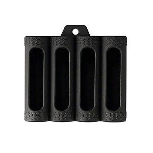 Capa de Silicone (Skin) p/ 4 Baterias 18650 - Preto - Coil Master