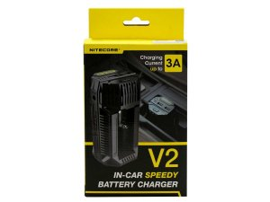 Carregador V2 (3A para carro) Quick Charger - Nitecore®