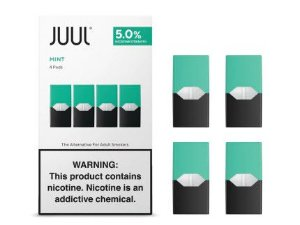 Pod c/ Líquido Mint p/ Pod System Yoop & Juul - Juul