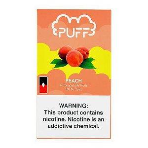 PODs (cartucho) c/ Líquidos p/ JUUL - Peach - PUFF