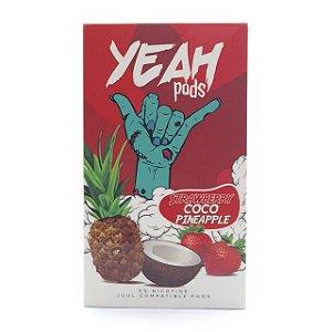 Cartucho (Pod) de Reposição (c/ Líquido) Strawberry Coco Pineapple p/ Yoop & Juul - Yeah