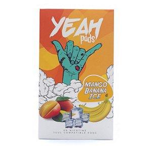 Cartucho (Pod) de Reposição (c/ Líquido) Mango Banana Ice p/ Yoop & Juul - Yeah