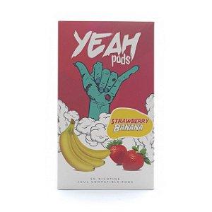 Cartucho (Pod) de Reposição (c/ Líquido) Strawberry Banana p/ Yoop & Juul - Yeah