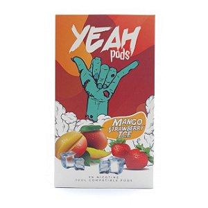 Cartucho (Pod) de Reposição (c/ Líquido) Mango Strawberry Ice p/ Yoop & Juul - Yeah