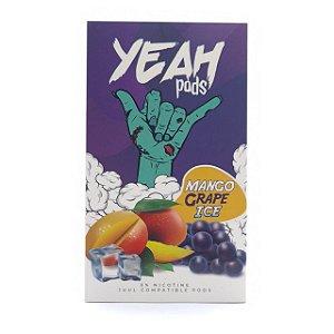Cartucho (Pod) de Reposição (c/ Líquido) Mango Grape Ice p/ Yoop & Juul - Yeah