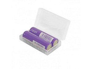 Case p/ 2x Baterias 18650 ou 21650