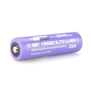 Bateria 18650 Li-Mn IMR 18650 3.7V 2500mAh High Drain 35A Button Top - Efest®