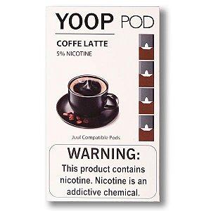 Pod c/ Líquido Coffe Latte p/ Pod System Yoop & Juul - Yoop