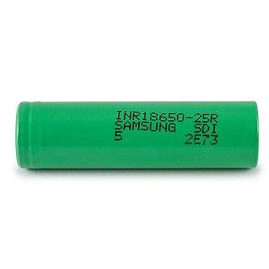 Bateria 18650 Li-Ion INR 18650 25R R5 3.6V 2500mAh High Drain 20A Flat Top - Samsung