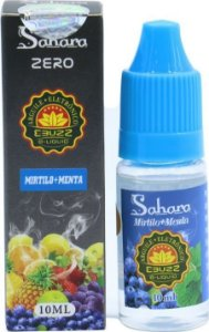 Liquido ebuzz Mirtilo + Menta - ZERO NICOTINA - Sahara
