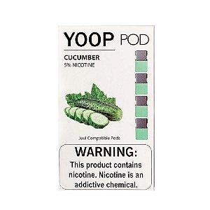 Pod c/ Líquido Cucumber p/ Pod System Yoop & Juul - Yoop