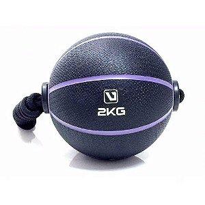 Medicine Ball Com Corda  2kg Live UP