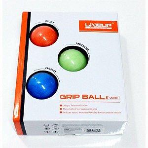 Kit Grip Ball - Bolas de Aperto , Leve , Médio e Forte , 5cm