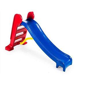 Escorregador Infantil Lilo Médio 3 Degraus Vermelho com Azul