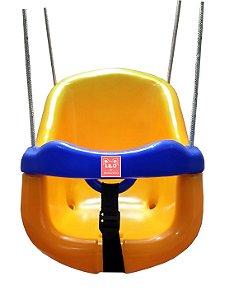 Balanço Infantil Baby com encosto , trava e corda