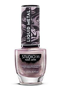 Esmalte Fortalecedor Studio 35 - 9 ml - Linha Liquid Metal Cor #Rosa Espelhado