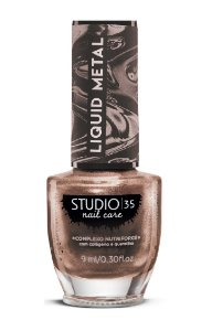 Esmalte Fortalecedor Studio 35 - 9 ml - Linha Liquid Metal Cor #ourochampagne