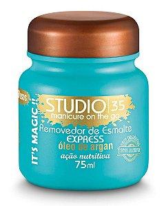 Removedor de Esmalte Express Studio 35 Sem Acetona - 75 ml Acao Nutritiva com Oleo de Argan