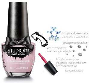 Esmalte Fortalecedor Studio 35 14 ml Professional Care #candy - 25 (Transparente)