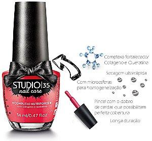 Esmalte Fortalecedor Studio 35 14 ml Professional Care #ilove - 05 (Cintilante Perolado)