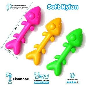 Fishbone - brinquedo de nylon para cães com mordida forte=)