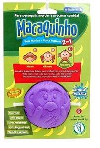Brinquedo Macaquinho 2 em 1 (Mordedor e Porta-petisco)
