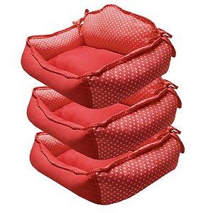 cama sofá siliconada kit com 3 peças P.M,G