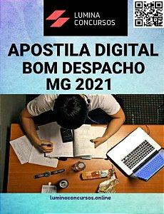 Apostila PREFEITURA DE BOM DESPACHO MG 2021 Psicólogo