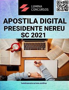 Apostila PREFEITURA DE PRESIDENTE NEREU SC 2021 Nutricionista