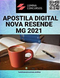 Apostila PREFEITURA DE NOVA RESENDE MG 2021 Farmacêutico