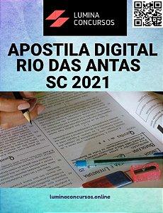 Apostila PREFEITURA DE RIO DAS ANTAS SC 2021 Agente Comunitário de Saúde
