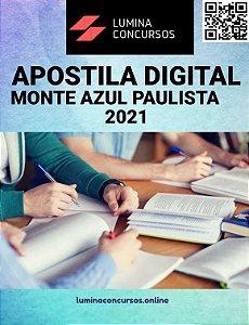 Apostila PREFEITURA DE MONTE AZUL PAULISTA SP 2021 Técnico de Segurança do Trabalho