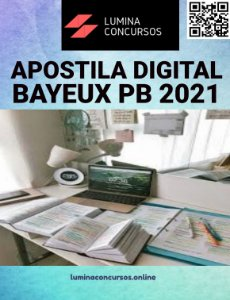 Apostila PREFEITURA DE BAYEUX PB 2021 Nutricionista