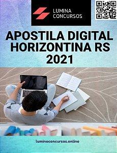 Apostila PREFEITURA DE HORIZONTINA RS 2021 Professor Artes