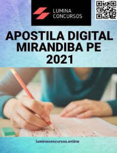 Apostila PREFEITURA DE MIRANDIBA PE 2021 Professor de Matemática