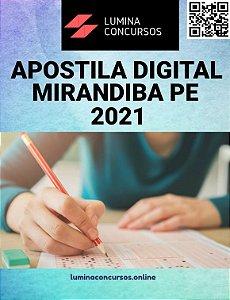 Apostila PREFEITURA DE MIRANDIBA PE 2021 Professor de Artes