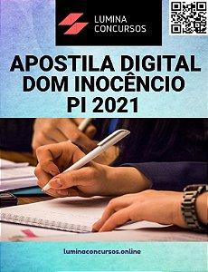 Apostila PREFEITURA DE DOM INOCÊNCIO PI 2021 Nutricionista
