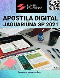 Apostila PREFEITURA DE JAGUARIÚNA SP 2021 Professor de Educação Básica I Ensino Fundamental