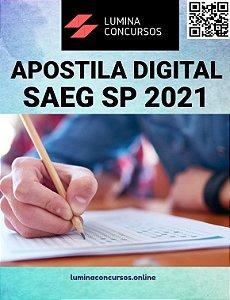 Apostila SAEG SP 2021 Assistente de Serviços Administrativo