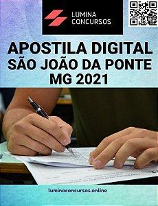 Apostila PREFEITURA DE SÃO JOÃO DA PONTE MG 2021 Agente Comunitário de Saúde