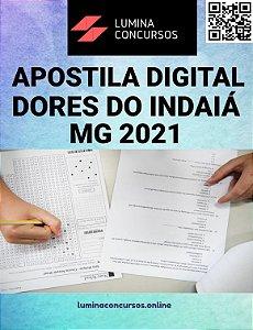 Apostila PREFEITURA DE DORES DO INDAIÁ MG 2021 Contador Municipal