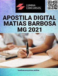 Apostila PREFEITURA DE MATIAS BARBOSA MG 2021 Técnico de Saúde Bucal