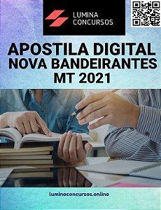 Apostila PREFEITURA DE NOVA BANDEIRANTES MT 2021 Psicólogo
