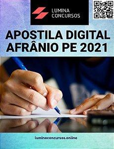 Apostila PREFEITURA DE AFRÂNIO PE 2021 Assistente Social