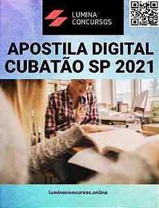 Apostila PREFEITURA DE CUBATÃO SP 2021 Professor de Matemática