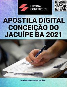 Apostila PREFEITURA DE CONCEIÇÃO DO JACUÍPE BA 2021 Nutricionista