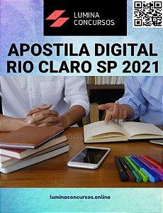 Apostila PREFEITURA DE RIO CLARO SP 2021 Técnico em Segurança do Trabalho