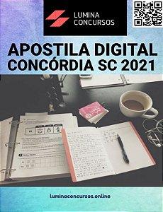 Apostila PREFEITURA DE CONCÓRDIA SC 2021 Professor de Matemática