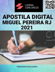 Apostila PREFEITURA DE MIGUEL PEREIRA RJ 2021 Nutricionista