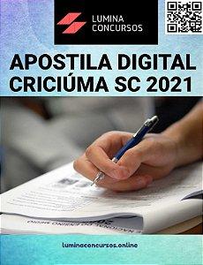 Apostila PREFEITURA DE CRICIÚMA SC 2021 Nutricionista